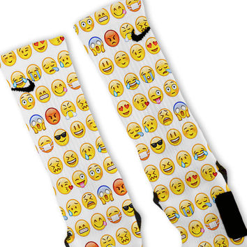 Smiley Emoji Custom Nike Elite Socks