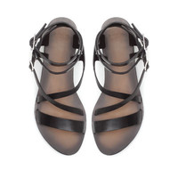 LEATHER STRAP SANDALS - Shoes - TRF - ZARA United States