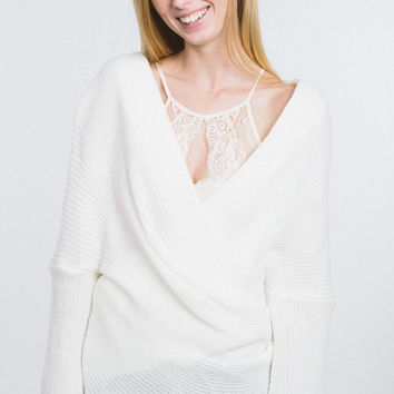 Easy Going Off The Shoulder Sweater - White