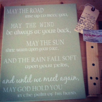 Irish Blessings, St.Patricks Day, Irish home decor, Cheers, custom canvas