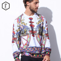 Long Sleeve Pullover Winter Men's Fashion Round-neck Hoodies [8822220355]
