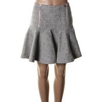 Rebecca Taylor Womens Textured Pattern Flare Skirt