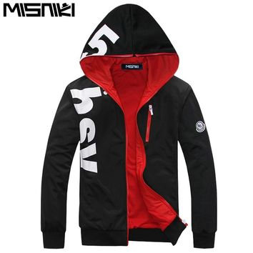MISNIKI Spring AutumnLetter Designer Cool Hoodies Sweatshirt Men Casual Slim Mens Hoodies And Sweatshirts (Asian Size)