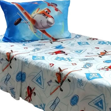 Disney Planes Bed Sheet Set Dusty Crophopper On Your Mark Bedding Accessories: Full
