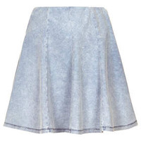 PETITE Denim Look Flippy Skirt - Denim