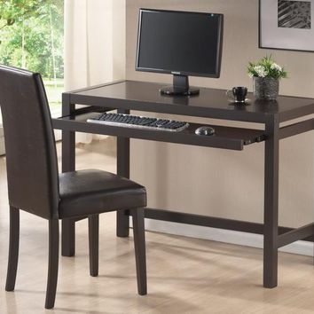 Baxton Studio Astoria Dark Brown Modern Desk and Chair Set Set of 1