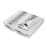 UGG® Dawson Stripe Faux Fur Throw Blanket in Grey