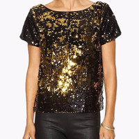 Gold Sequined T-shirt