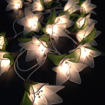 flower string lights for bedroom cotton lights for home decor from icandylighting on 18698