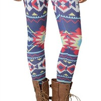 Legging with Southwest Fair Isle Print