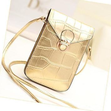 small shoulder crossbody bag purse leather cellphone pouch for travel daily use  number 1