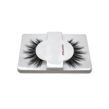 1 pair Handmade Mink Fur False Eyelash 3D Strip Mink Lashes Thick Fake Faux Eyelashes Makeup Beauty Makeup Eyes P3