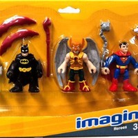 Fisher-Price Toy - Imaginext DC Comics Super Friends Heroes Figure Set - Batman - Superman - Hawkman