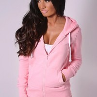 Hallie Pink Tracksuit Top | Pink Boutique