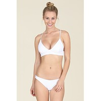 Tori Praver Swimwear - Daniela Top | White