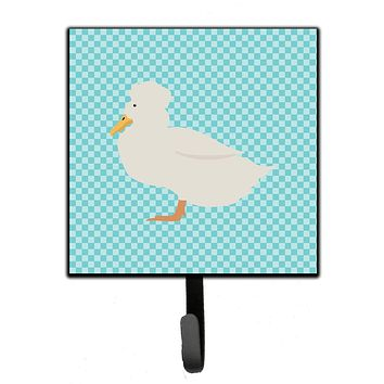 Crested Duck Blue Check Leash or Key Holder BB8031SH4