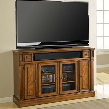 "Toscano 62"" TV Stand / Console (Tall) Antique Vintage Dark Chestnut"
