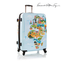 "Heys World Map Luggage 30"" Hardcase Expandable FVT Large Suitcase"