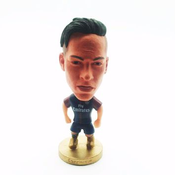 Brazil Football Player Star Actions Dolls 10# NEYMAR Mini Statue Movable Dolls Figurine for soccer funs Kids Birthday Gifts