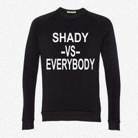 shadyvseverybody 2 fleece crewneck sweatshirt