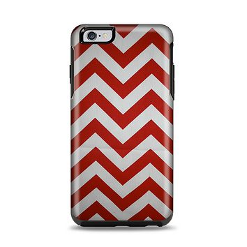 The Red Vintage Chevron Pattern Apple iPhone 6 Plus Otterbox Symmetry Case Skin Set