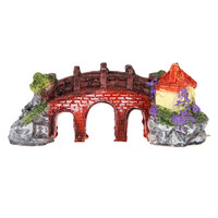Chinese Style Bridge Aquarium Decoration Rockery Fish Tank Ornament Aquarium Decor Fish Tank Escape Hole Aquarium Accessories
