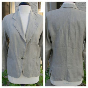 Vintage jacket, Armani - Bought in Rome 1980 - Linen, half lined, family owned