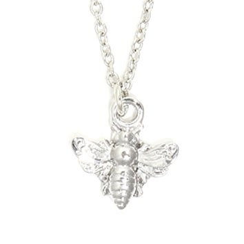 Bumblebee Necklace Silver Tone Insect Bee Charm Bug Art Nouveau Pendant NT23 Fashion Jewelry