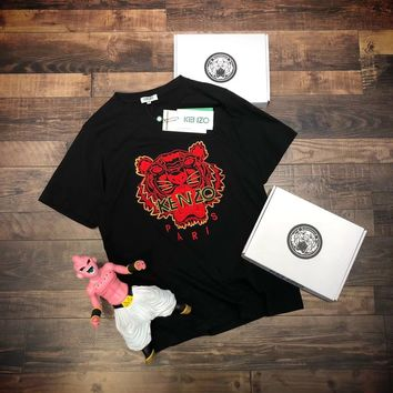 KENZO Women Embroidery Simple T-shirt