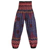 Women's High Waist Printed Boho Harem Pants