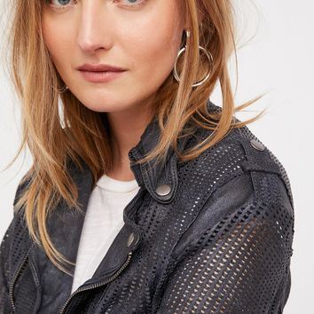 Free People Perforated Leather Moto Jacket