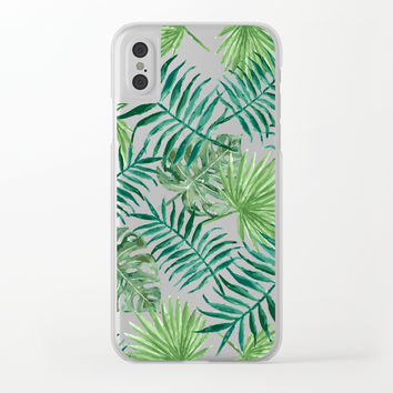 Leaves Transparent Phone Case Clear iPhone Case by mcannon1998