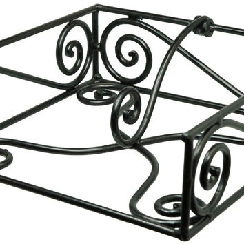 Black Village Scroll Luncheon Napkin Holder Park Designs