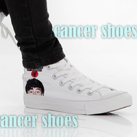 5 sos calum hood,Custom Canvas Shoes for Women Model 101(New)