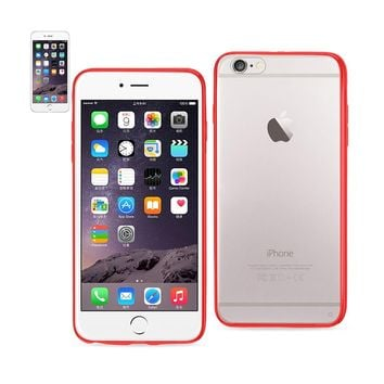 New Clear Back Frame Bumper Case In Red For iPhone 6 Plus By Reiko