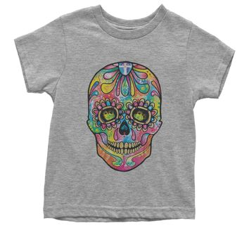 Sugar Skull Glitter Face Youth T-shirt