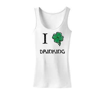 I Shamrock Drinking Womens Tank Top