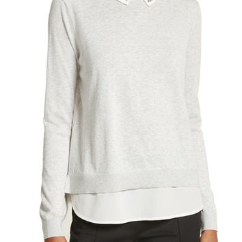 Ted Baker London Miriah Embellished Layer Look Sweater | Nordstrom