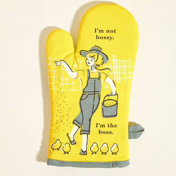 It's the Hot That Counts Cotton Oven Mitt in Boss