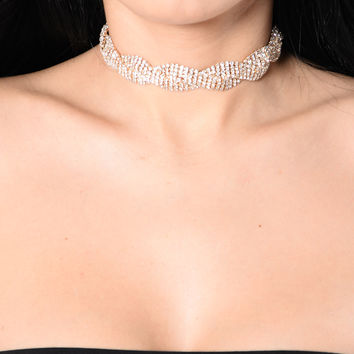 Glitz In My DNA Choker - Gold