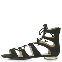 HEAVEN Gladiator Sandals - Black