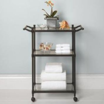 Newbury Rolling Bath Cart Oil-Rubbed Bronze | Storage & Furniture | Restoration Hardware