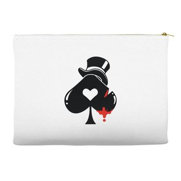 poker hat ace of spades Accessory Pouches