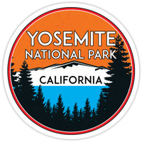 'YOSEMITE NATIONAL PARK CALIFORNIA MOUNTAIN HIKING CAMPING CLIMBING' Sticker by MyHandmadeSigns