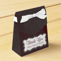 Gray and Maroon Thank You Tent Gift Box