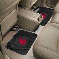 Fan Mats Washington State University  Backseat Utility Mats 2 Pack