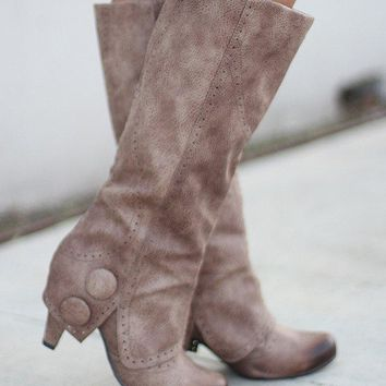 B Dad Taupe Boots