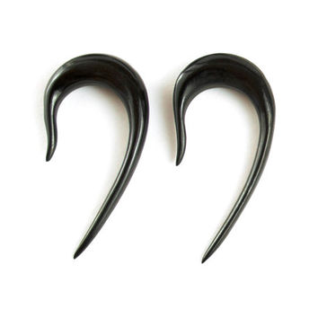 "Ear Plugs Hook Gauge Earrings Horn Gauges Expanders 16g 14g 12g 10g 8g 6g 4g 2g 0g 00g 1/2"" - GA001 H"
