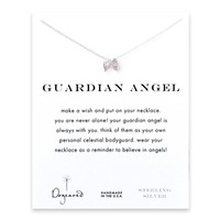 Dogeared Guardian Angel Angel Wings Necklace Sterling Silver - 16 Inches