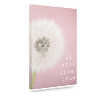 "Susannah Tucker ""It Will Come True"" Pink Flower Outdoor Canvas Wall Art"